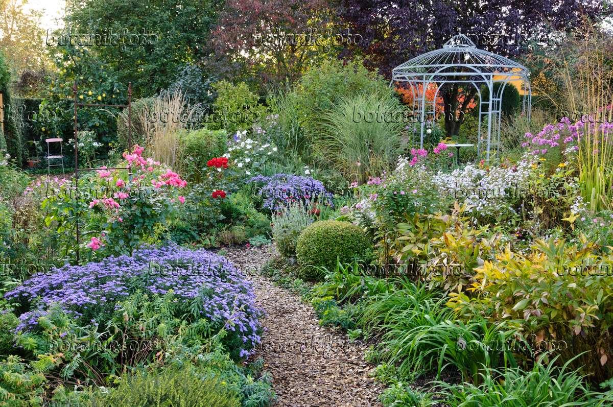 Bild Pavillon In Einem Herbstlichen Staudengarten - 477033 ... Garten Pavillon Tropische Pflanzen