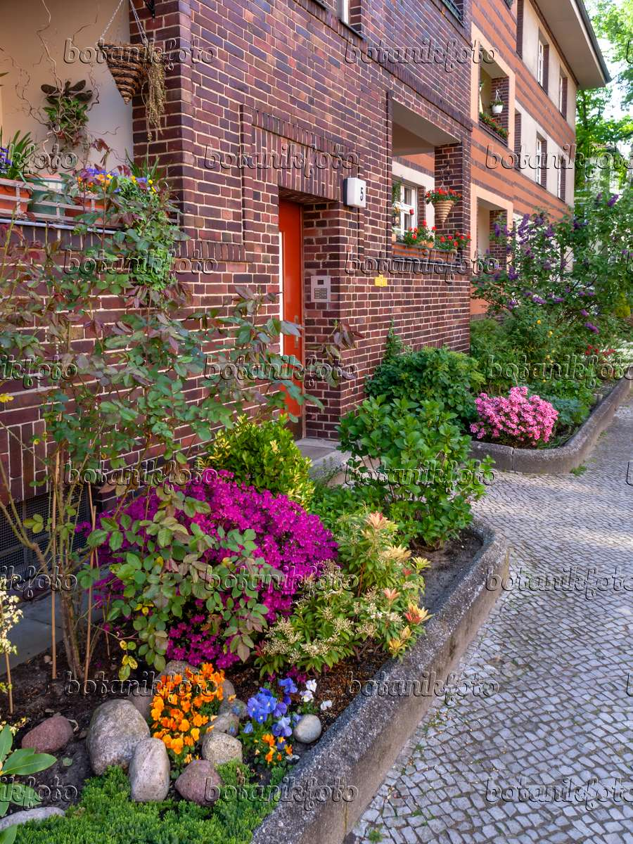 Apartment Building Front image front garden of an apartment building - 460084 - images and
