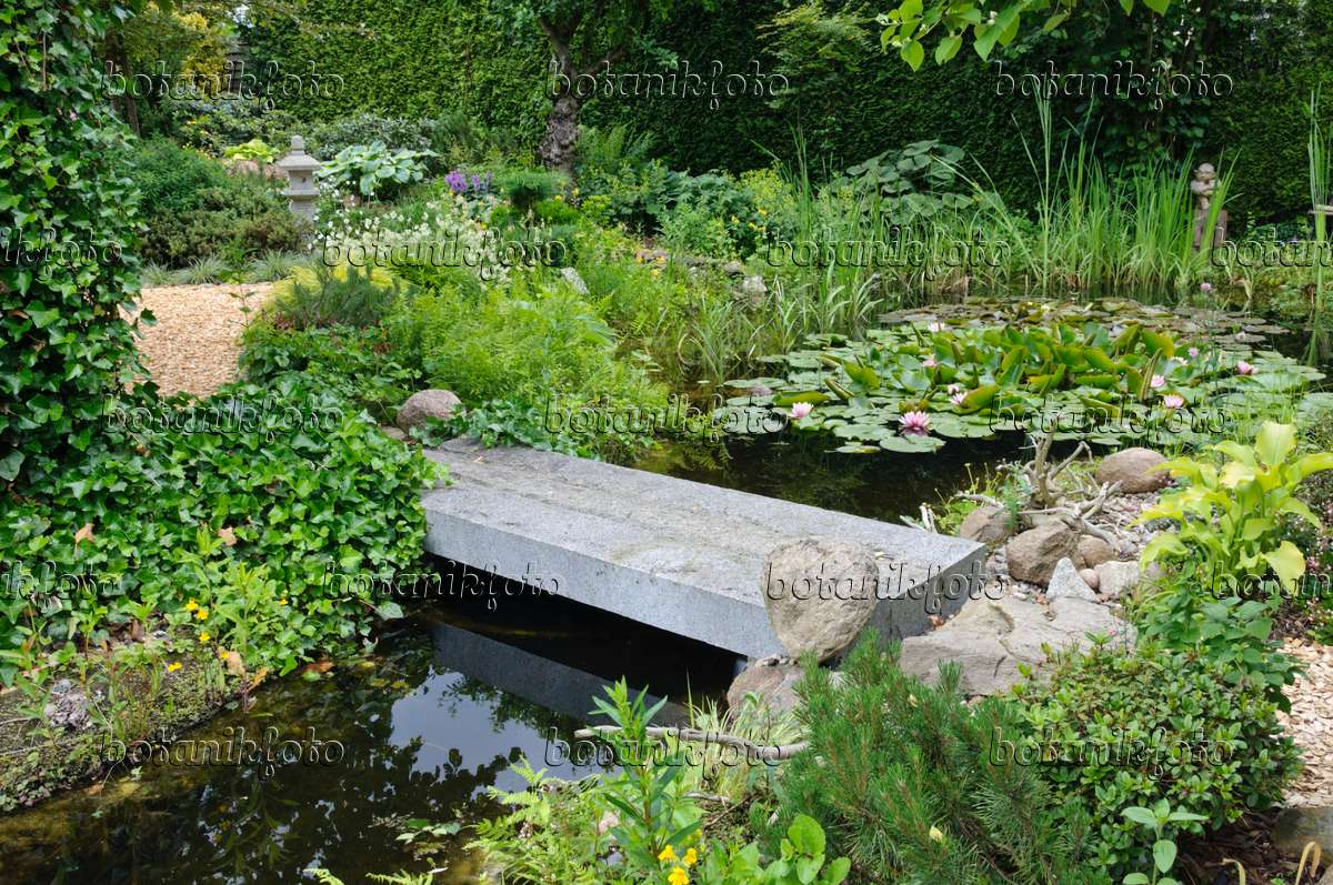 Image Garden Pond With Stone Bridge 473081 Images And